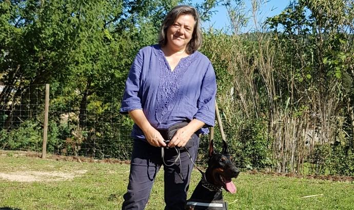 L'associació ja ha entregat dos gossos a dones maltractades. Font: Associació Moritz. Font: Font: Associació Mortiz.