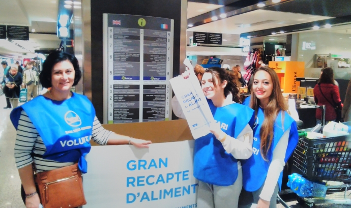 Voluntàries de La Salle al Gran Recapte de 2015 Font: La Salle