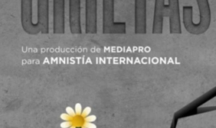 "Cartell ""Grietas"" (Amnistia Internacional i Mediapro)"