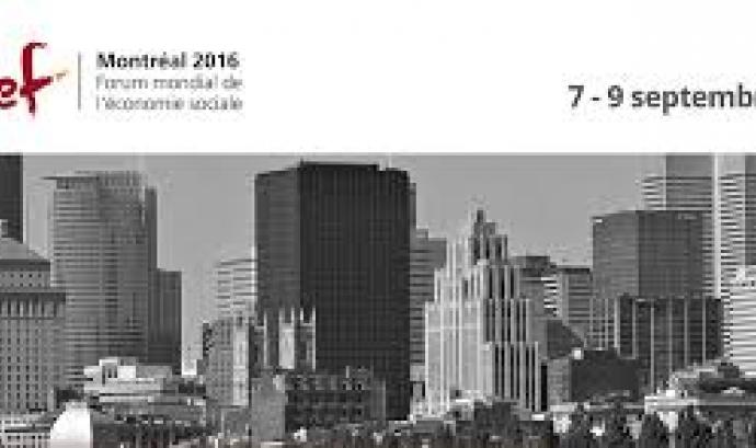 Fòrum Mundial de l'Economia Social 2016. Font: neweconomy.net Font: