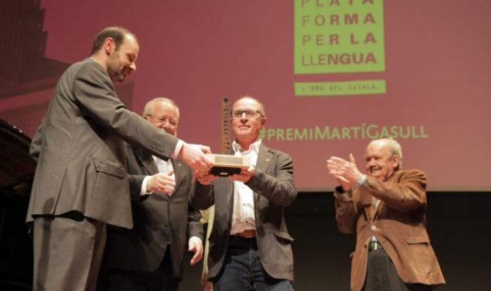 Acte de lliurament del Premi Martí Gasull l'any 2015.