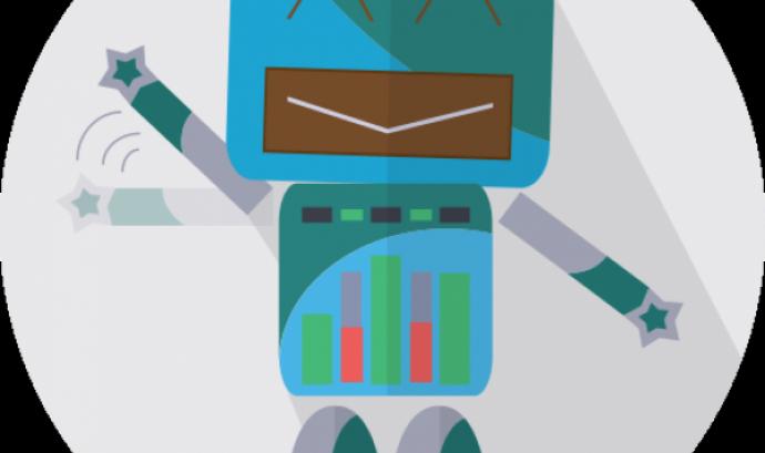 Il·lustració d'un robot simpàtic