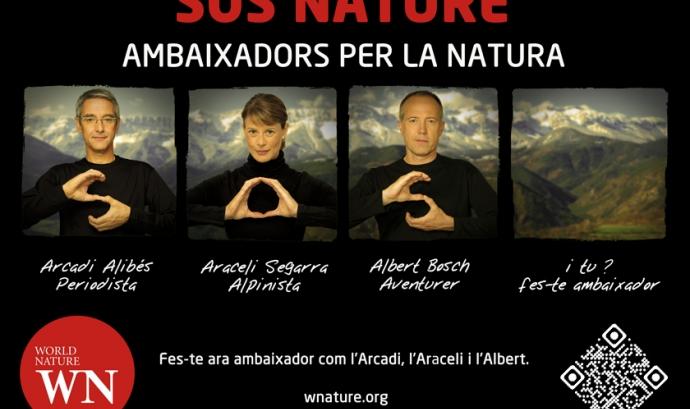 """Imatge de la campanya """"SOS NATURE Ambaixadors per la Natura"""" Font:"""