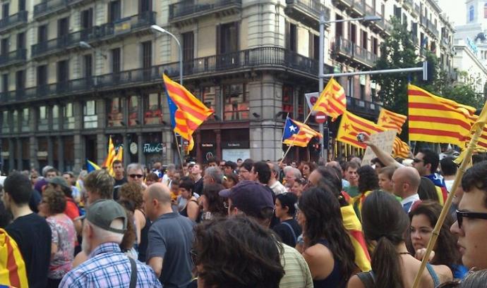 Manifestació a Barcelona Font: