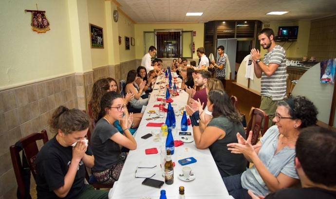 Imatge del sopar solidari. Font: Ramón Casacuberta