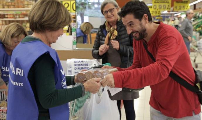 Imatge de la recollida del Gran Recapte Font: Banc dels aliments