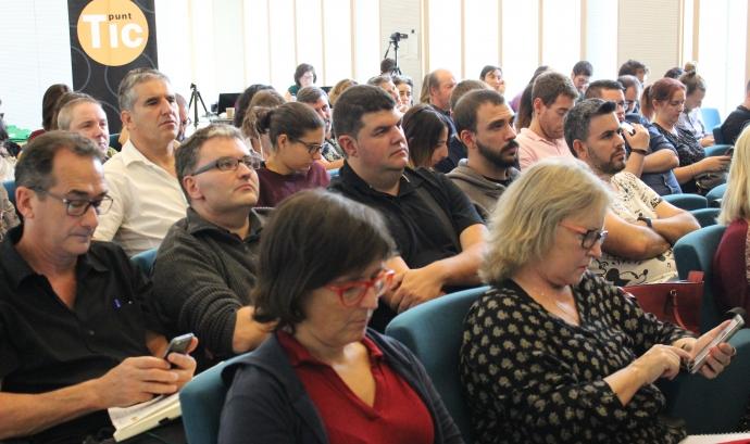 Participants en la Jornada de dinamització de la Internet Social 2017
