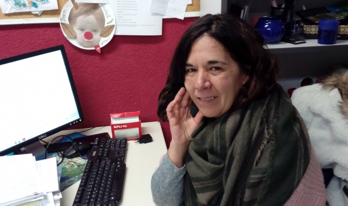 Adela Hidalgo, directora de l'Esplai Eixida de Sant Boi de Llobregat. Font: Júlia Hinojo Font: