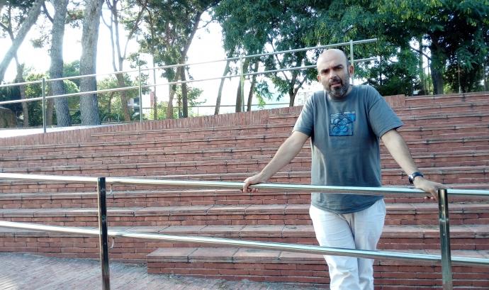 Miguel Aragón, director del CAB, al centre de serveis a les associacions Torre Jussana Font: Júlia Hinojo