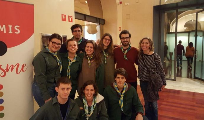 Recollint el premi / Foto: Agrupaments Cardenal Lluch i Antoni Gaudí