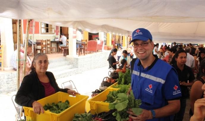 Marc Casas Fortuny, a la dreta de l'imatge. Font: Creu Roja Font: