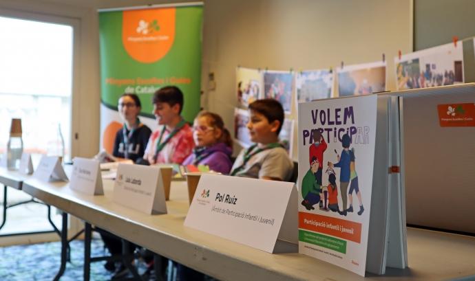 Presentació de la publicació 'Participació infantil i juvenil.Experiències del projecte Laboratori d'Acció i Innovació Educativa als agrupaments' de MEG Font: Minyons Escoltes i Guies de Catalunya