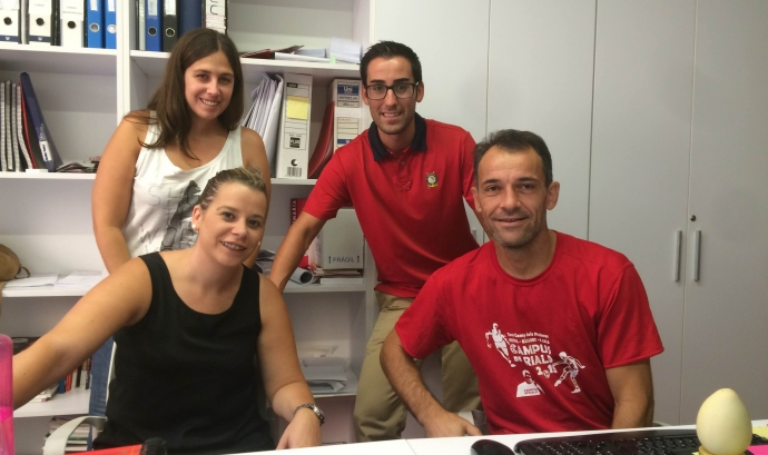 Equip de dinamitzadors de Càritas Urgell - Font: Càritas
