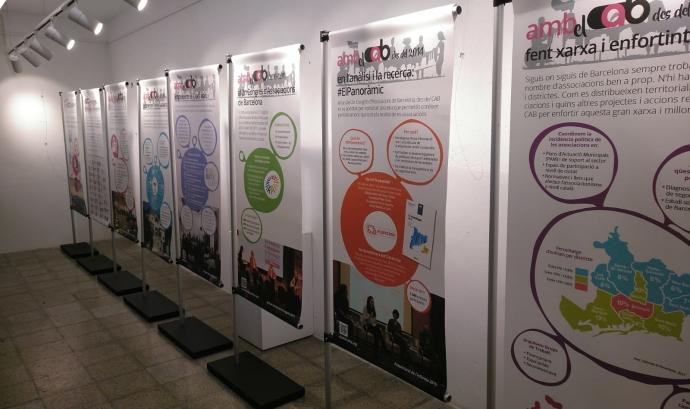 Plafons de l'exposició 'Associacions amb CAB'