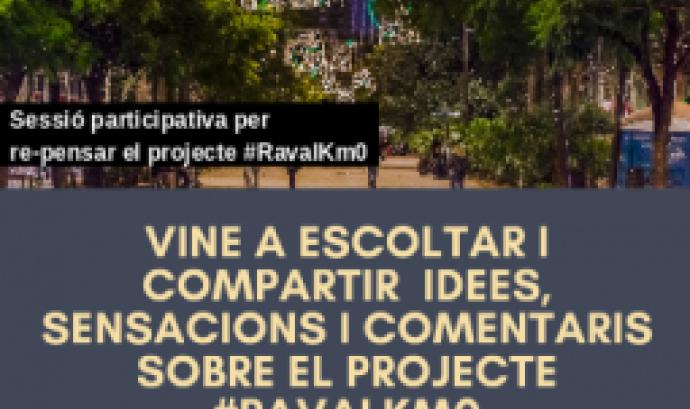 El 12 d'abril tindrà lloc una sessió participativa del projecte #RavalKm0