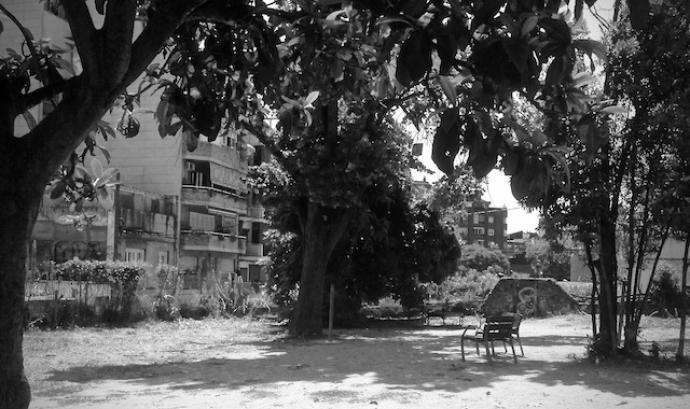 Plaça Farigola, Vallcarca, on es farà la 17a edició del Fòrum Indigestió