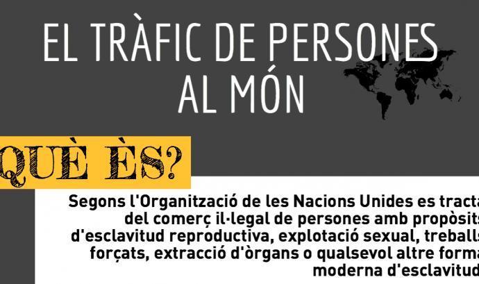 Imatge il·lustratiu part de la infografia sobre el tràfic de persones al món Font: