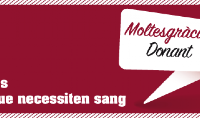 Cartell, campanya donació sang