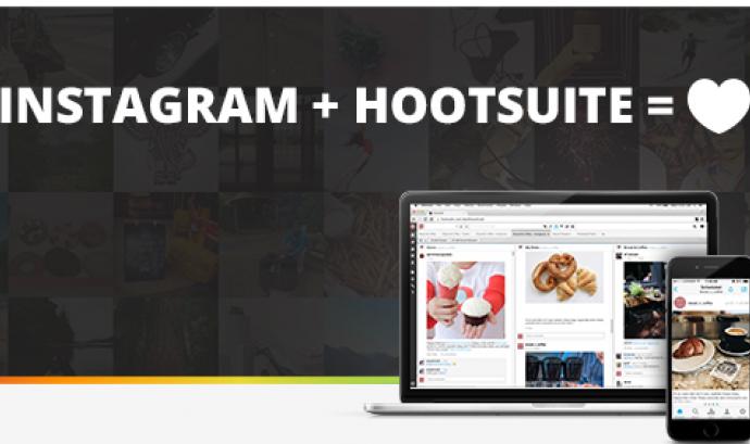 Hootsuite ja pot programar publicacions a Instagram Font: