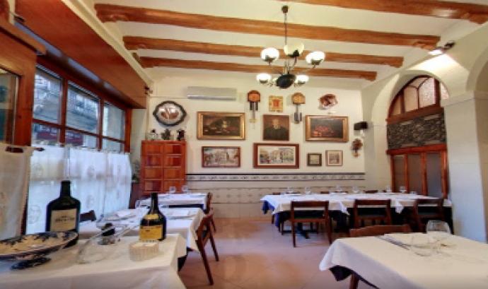 Imatge de l'interior del Restaurant Pitarra Font: Restaurant Pitarra