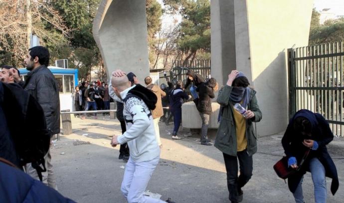 Protestes de la revolta iraniana el desembre passat