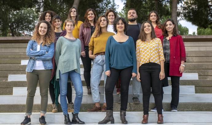 L'equip d'Irídia, entitat defensora dels drets humans.