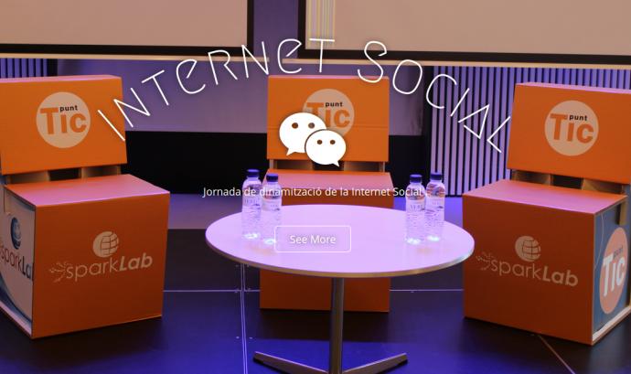 Detall del web de l'esdeveniment Font: