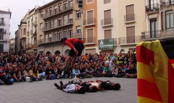 Trobada de caps de les 3 entitats escoltes, feta a Manresa el 2011. Foto: FCEG Font: