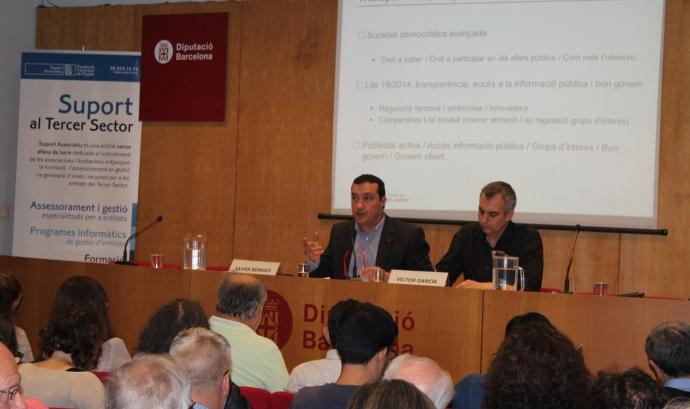 Xavier Bernadí i Víctor García durant la jornada de Suport Associatiu. Font: Suport Associatiu  Font:
