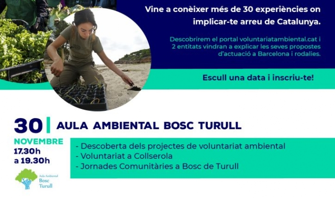 Sessions de presentació del portal del voluntariat ambiental a Barcelona