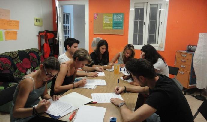 Grup de joves que va realitzar pràctiques a Nexes Font: