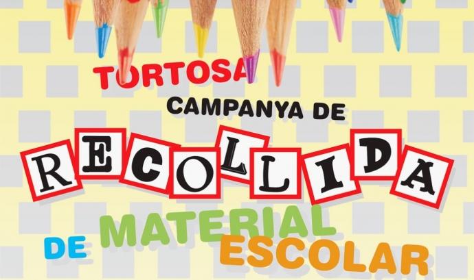 Campanya de recollida de material escolar a Tortosa Font: