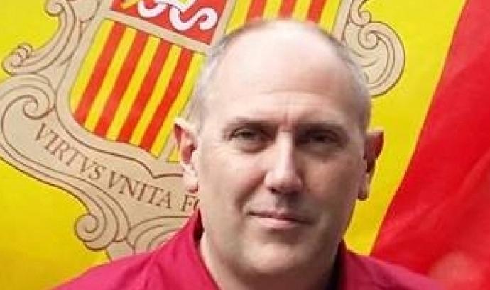 Juli Peña és el president dels Castellers d'Andorra. Font: