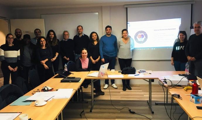 Imatge de la primera trobada del projecte, celebrada a Berlín el passat mes de gener. Font: Fundació Catalunya Voluntària