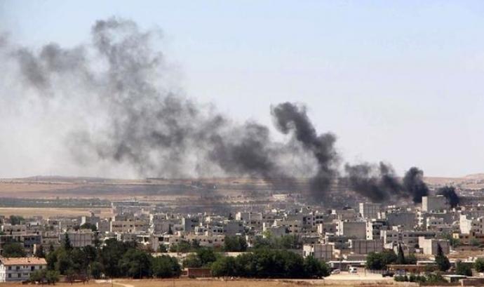 Ofensiva de l'Estat Islàmic contra Kobani, a Síria. Imatge d'eldiario.es Font: