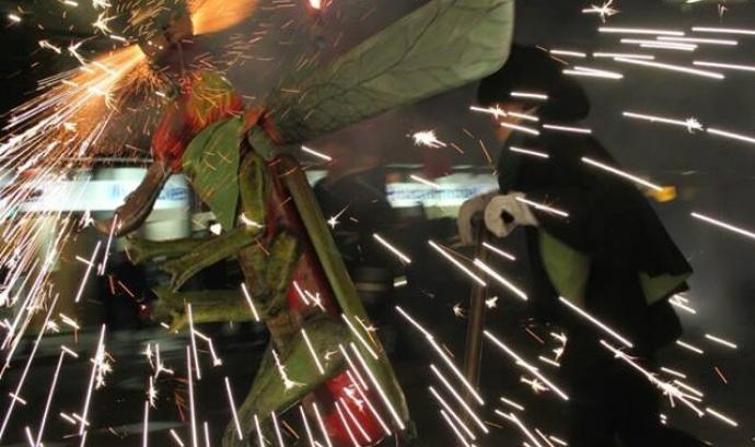 Espectacle de foc de Les Llagostes de l'Avern