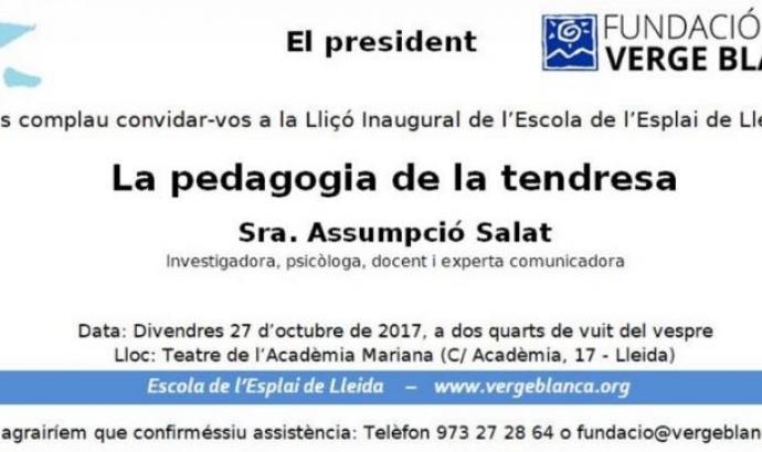 Lliçó Inaugural 'La pedagogia de la tendresa'