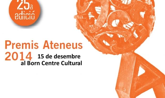 Imatge de la invitació dels Premis Ateneus 2014