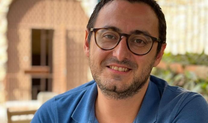 Lluís Gómez, vicepresident de l'Esbart Santa Tecla. Font: Lluís Gómez