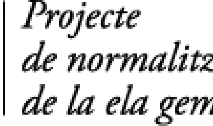 Projecte de normalització tipogràfica de la ela geminada Font:
