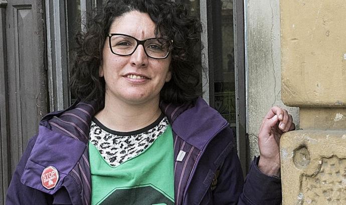 Lucía Delgado, portaveu de la Plataforma d'Afectats per la Hipoteca. Font: PAH