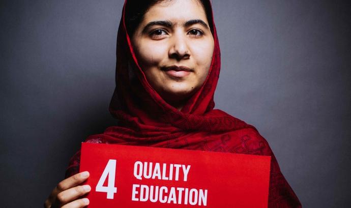 L'activista Malala Yousafzai dóna suport a l'ODS d'una educació de qualitat Font: ODS
