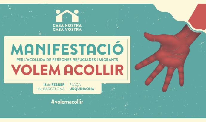 Casa Nostra Casa Vostra organitza la manifestació més massiva d'Europa en favor dels refugiats Font: