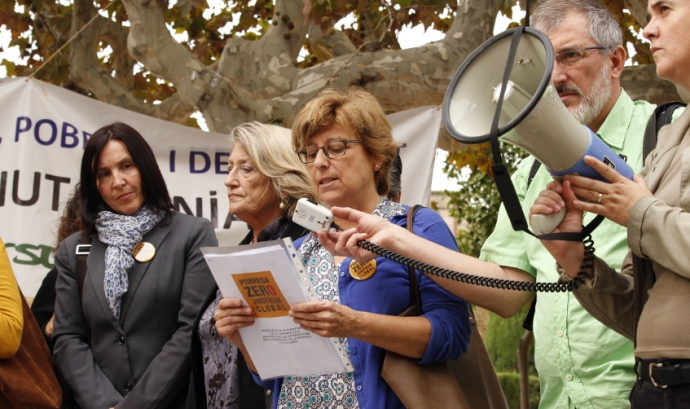 Lectura del manifest davant del Parlament de Catalunya