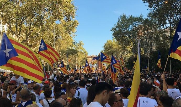 Manifestació de la Diada Nacional de Catalunya de 2016 Font: Xavier Dengra a la Viquipèdia