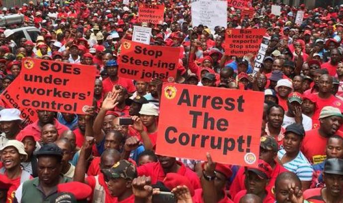 Manifestació a Sud-àfrica contra la corrupció Font: