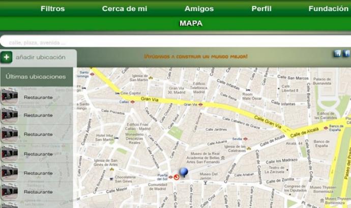 Captura de pantalla de l'aplicació Mapp4all