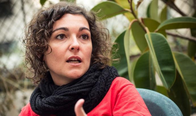Maria Campuzano, portaveu de l'Aliança contra la Pobresa Energètica. Font: Xarxanet