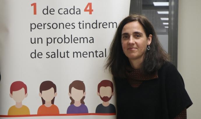 Marta Poll, directora de la Federació Salut Mental Catalunya, és diplomada en treball social i psicòloga especialitzada en trastorn mental greu, intervenció familiar i integració social i laboral de col·lectius amb especial dificultats. Font: Salut Mental Catalunya