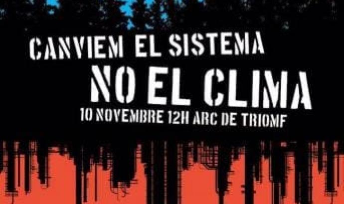 Cartell de la Marxa pel Clima del 10 de novembre a Barcelona